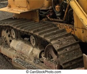 caterpillar tractor in work