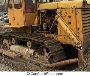 caterpillar tractor in work