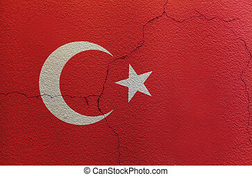 Flag of Turkey on the wall
