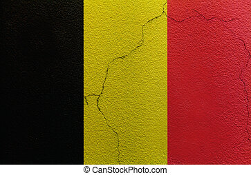Belgium flag on the wall