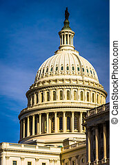 The dome of the United States Capitol, in Washington, DC.