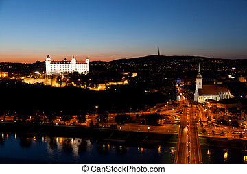 BRATISLAVA, SLOVAKIA-JULY 22: View of the old castle in...