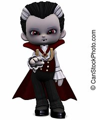 Little Vamp - Toon Figure - 3D Render of an Little Vamp -...