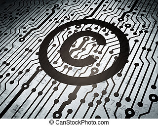 Law concept: circuit board with Copyright - Law concept:...