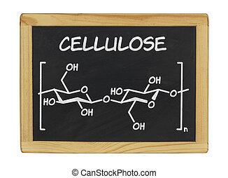 químico, fórmula, celulosa, pizarra