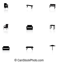 Furniture icons - outdoor