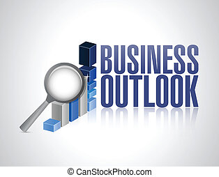 business outlook business graph and magnify illustration...