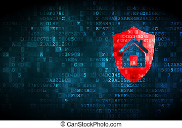 Business concept: Shield on digital background - Business...