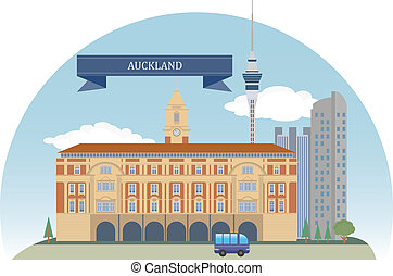 Auckland. New Zealand. Vector for you design