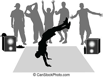 breakdance silhouette
