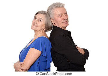 Portrait of an older couple - Close-up portrait of an older...