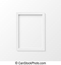 White picture frame illustration