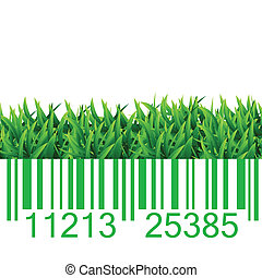 Bar code grass illustration