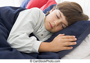 Young Boy Asleep In His Bed