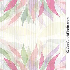 Spring floral pink background vector