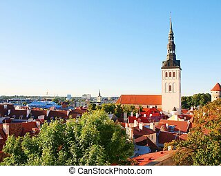 Aerial view of the Tallinn. Estonia - Aerial view of the...