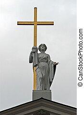 estatua, C/, Helena, catedral, Vinius