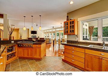 Modern kitchen room interior