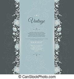 Vintage background - Vector illustration (eps 10) of Vintage...
