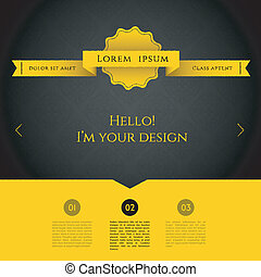 Blurred web design template - Vector illustration (eps 10)...