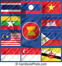 Flag of Asean Economic Community