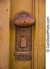 Wrought iron door knob