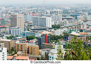 Arial View of Pataya Thailand, cityscape