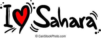 Sahara love - Creative design of sahara love