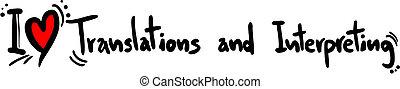 Translation and interpreting love - Creative design of...