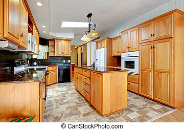 Kitchen furniture set with white appliances - View of...