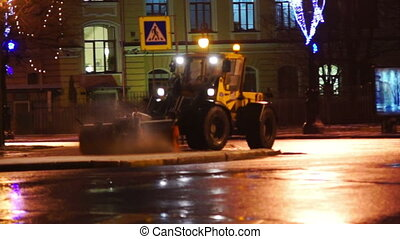 Street snow clearance in Saint Petersburg