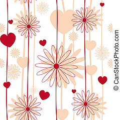 Red flower seamless background vector eps 8