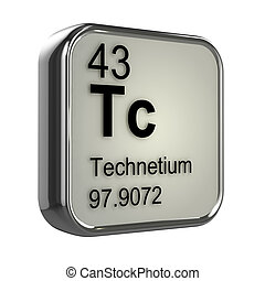 3d Technetium element - 3d render of technetium element...