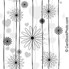Monochrome black and white seamless background vector