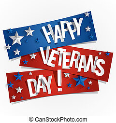Happy Veterans Day - Creative Abstract Happy Veterans Day...