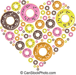 donuts in heart