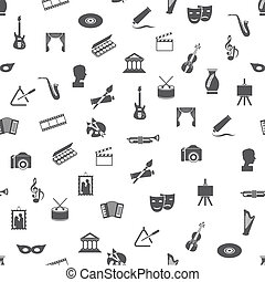 art and culture seamless pattern