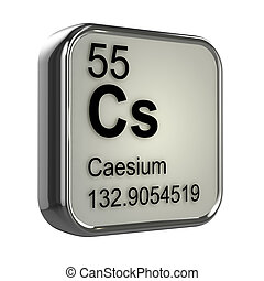 3d Caesium element - 3d render of caesium element design