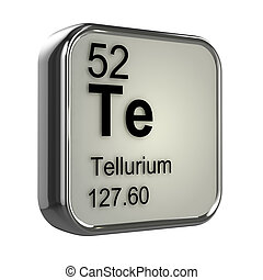 3d Tellurium element - 3d render of tellurium element design