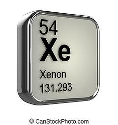 3d Xenon element  - 3d render of xenon element design