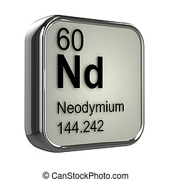 3d Neodymium element - 3d render of neodymium element design