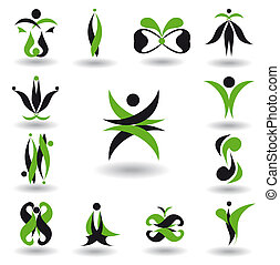 Set of abstract design element vector