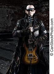 heavy metal - Modern rock musician playing the guitar...