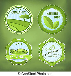 Different organic food labels