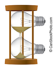 Light Bulb sand clock - Light bulb Sand timer symbolizing...