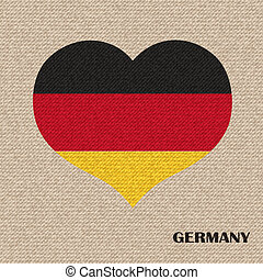 National flag of Germany. vector retro illustration.