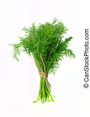 bunch of dill on white background