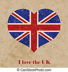 British flag vector retro illustration