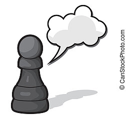 Pawn Chess illustration - Vector illustration of the Pawn...