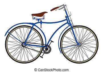 Retro bike - Vector illustration of the Retro bike
